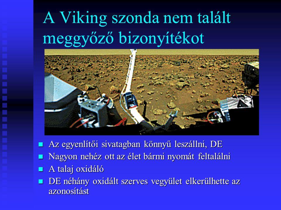 A Viking szonda nem talált meggyőző bizonyítékot Az egyenlítői sivatagban könnyű leszállni, DE Nagyon nehéz ott az élet bármi nyomát feltalálni A tala