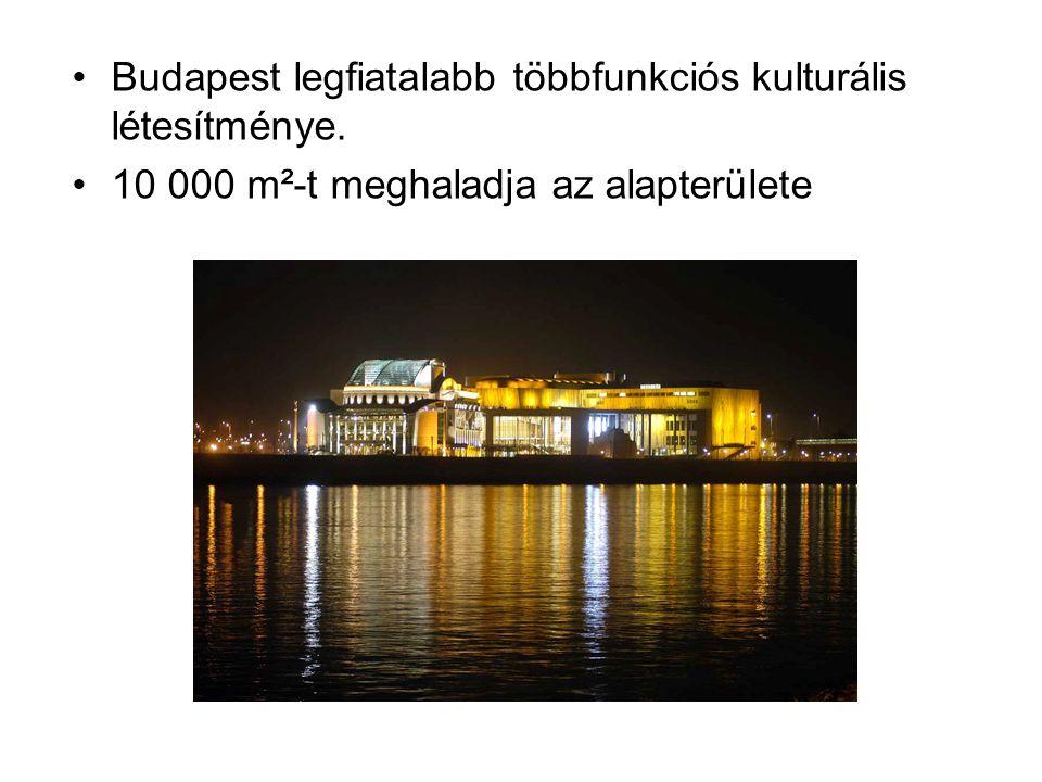 Budapest legfiatalabb többfunkciós kulturális létesítménye. 10 000 m²-t meghaladja az alapterülete