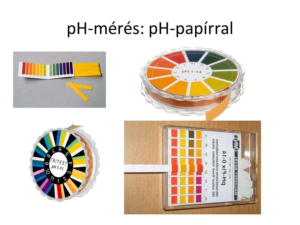 pH-mérés: pH-papírral