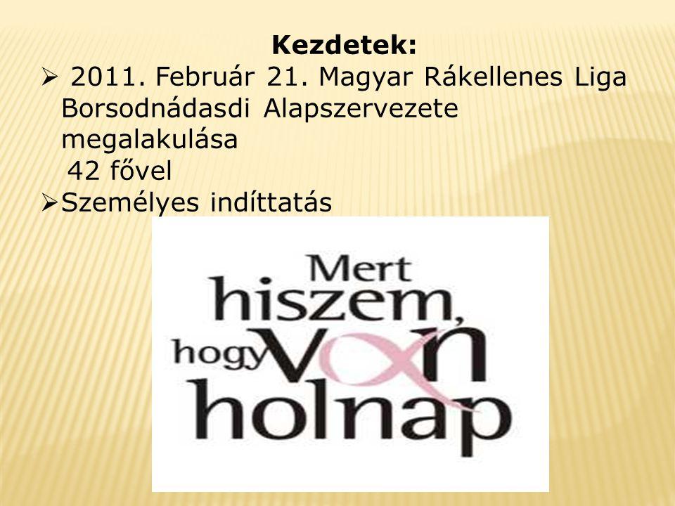Kezdetek:  2011. Február 21.