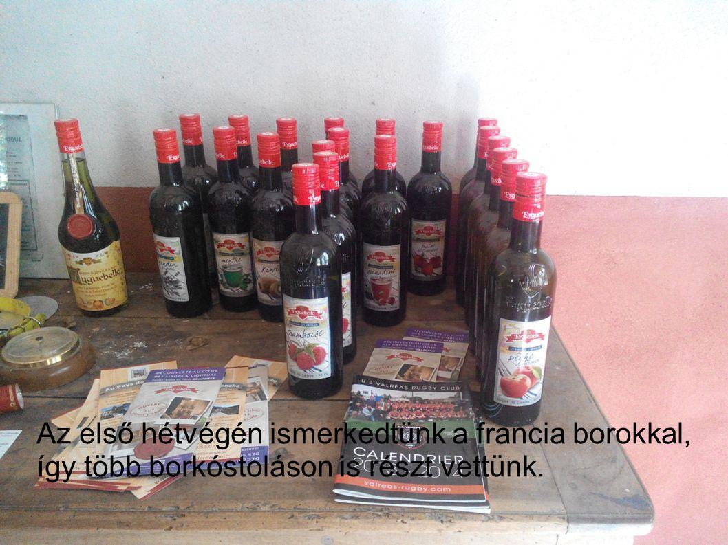 Az első hétvégén ismerkedtünk a francia borokkal, így több borkóstoláson is részt vettünk.