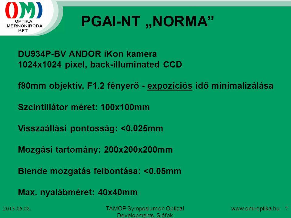 DU934P-BV ANDOR iKon kamera 1024x1024 pixel, back-illuminated CCD f80mm objektív, F1.2 fényerő - expozíciós idő minimalizálása Szcintillátor méret: 10