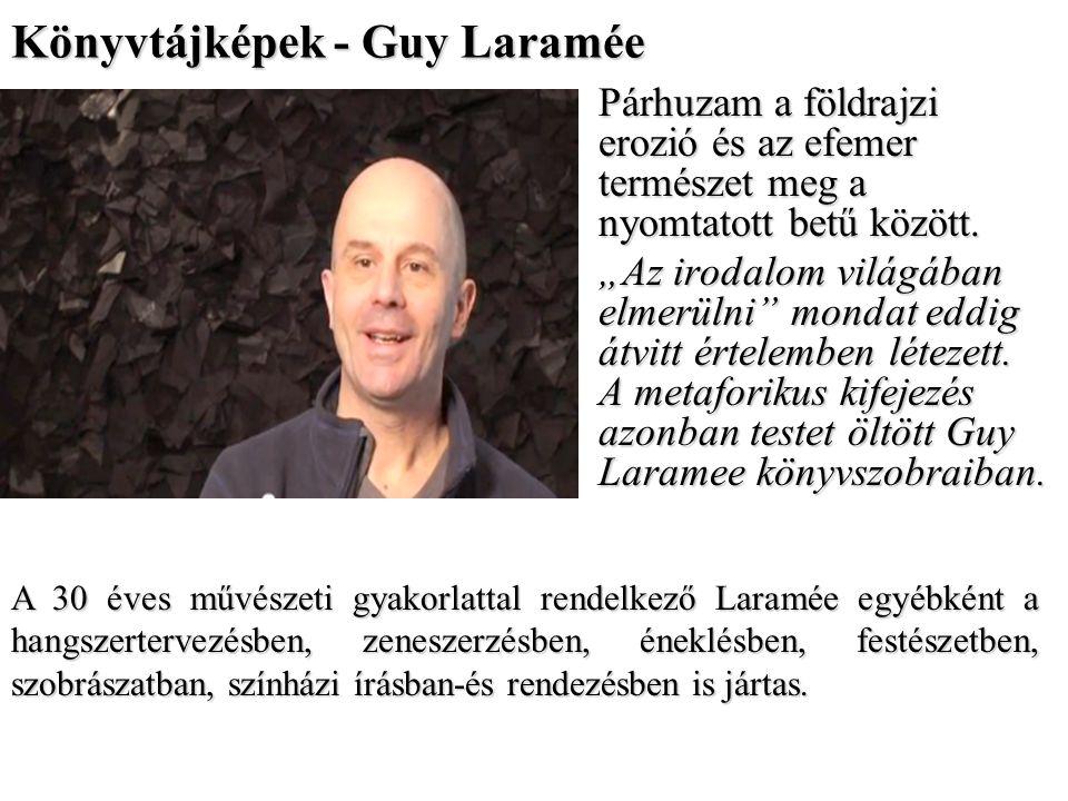 Könyvtájképek - Guy Laramée Párhuzam a földrajzi erozió és az efemer természet meg a nyomtatott betű között.