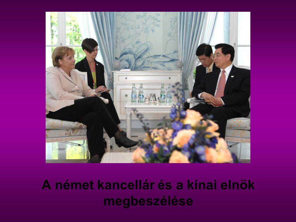 A német kancellár és a kínai elnök megbeszélése