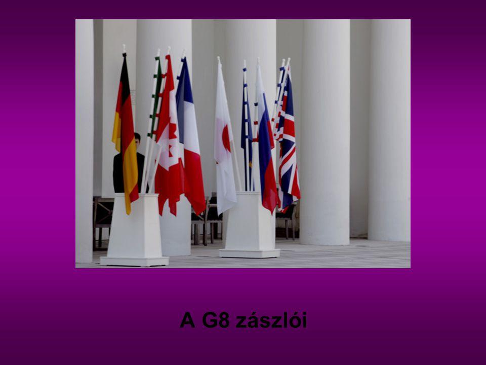 A G8 zászlói
