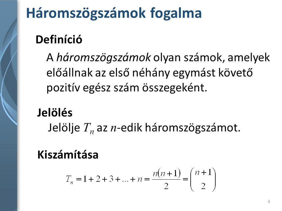 Háromszögszámok fogalma 5