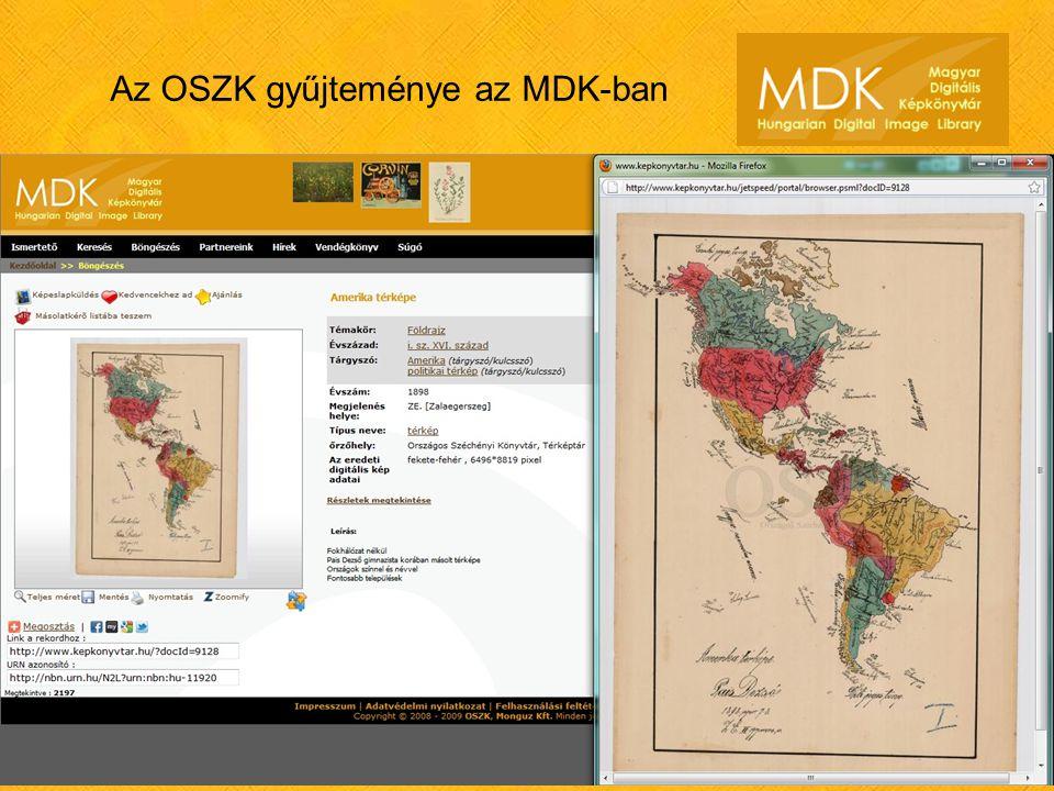 Az OSZK gyűjteménye az MDK-ban