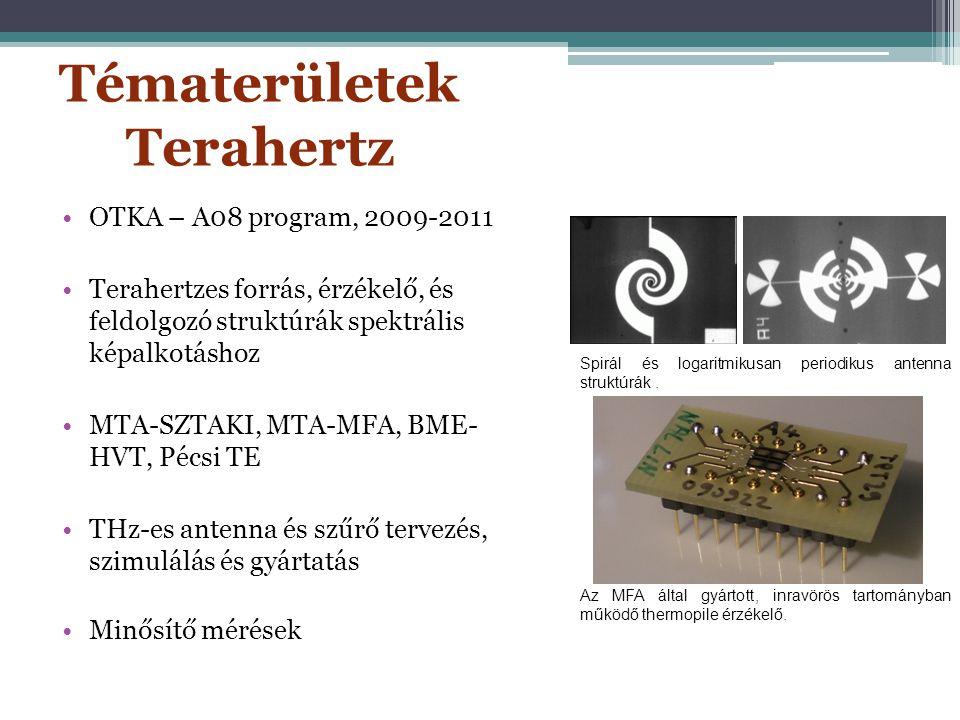 Együttműködés a KFKI MFA csoportjával Thermopile detektor felülnézetből árameloszlás közelítése egy szálon