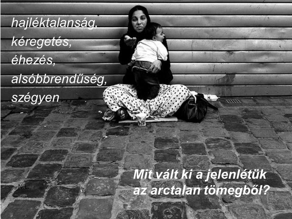 hajléktalanság, kéregetés, éhezés, alsóbbrendűség, szégyen… N.L.
