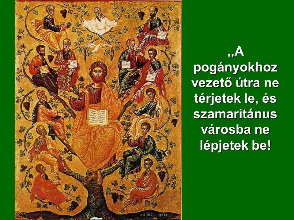 Ezt a tizenkettőt küldte Jézus, és megparancsol ta nekik:
