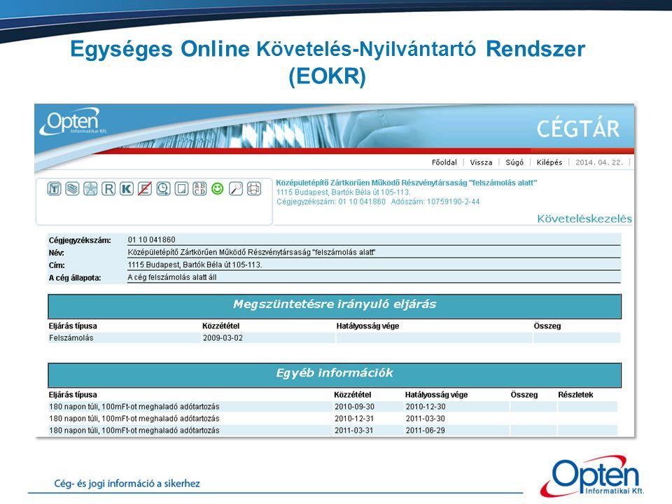 Köszönöm figyelmüket! Opten Informatikai Kft. Drexler Tünde 06-70/458-9097 drexler.tunde@opten.hu