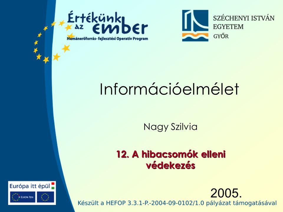 2005. Információelmélet Nagy Szilvia 12. A hibacsomók elleni védekezés