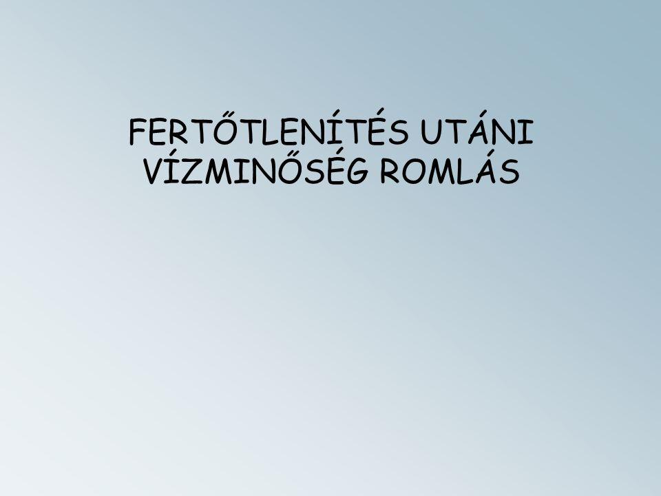 FERTŐTLENÍTÉS UTÁNI VÍZMINŐSÉG ROMLÁS