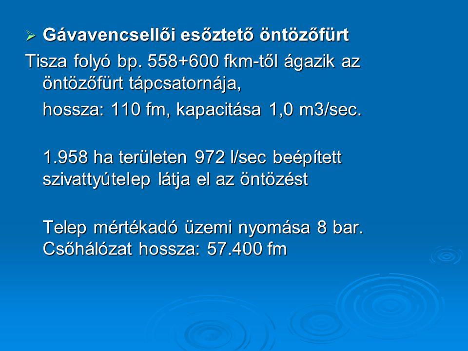  Gávavencsellői esőztető öntözőfürt Tisza folyó bp.