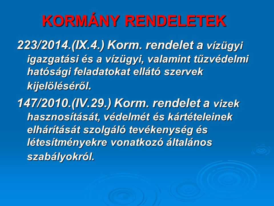 KORMÁNY RENDELETEK 223/2014.(IX.4.) Korm.