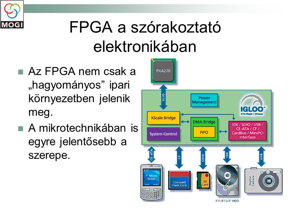 """FPGA a szórakoztató elektronikában Az FPGA nem csak a """"hagyományos"""" ipari környezetben jelenik meg. A mikrotechnikában is egyre jelentősebb a szerepe."""