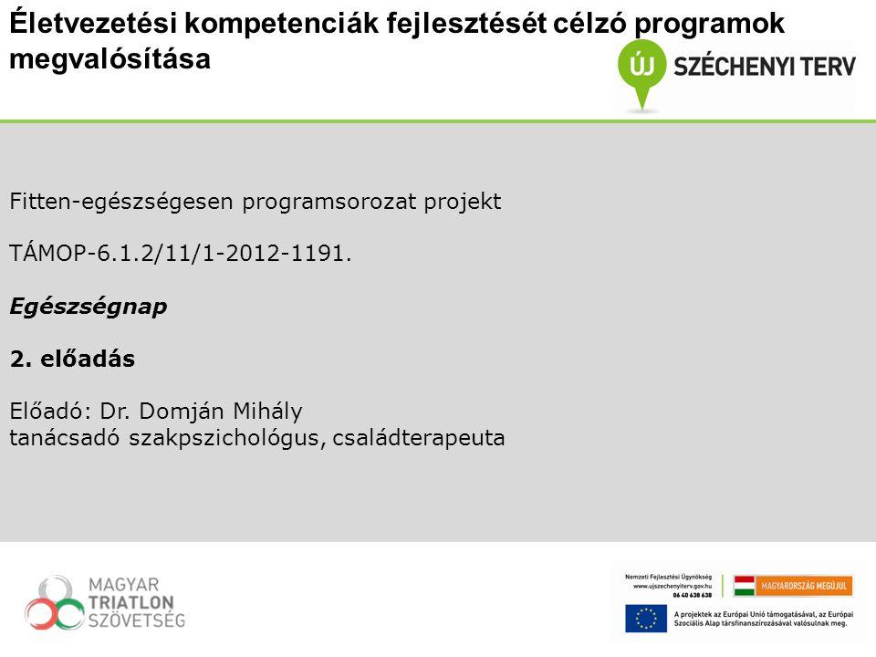Fitten-egészségesen programsorozat projekt TÁMOP-6.1.2/11/1-2012-1191.