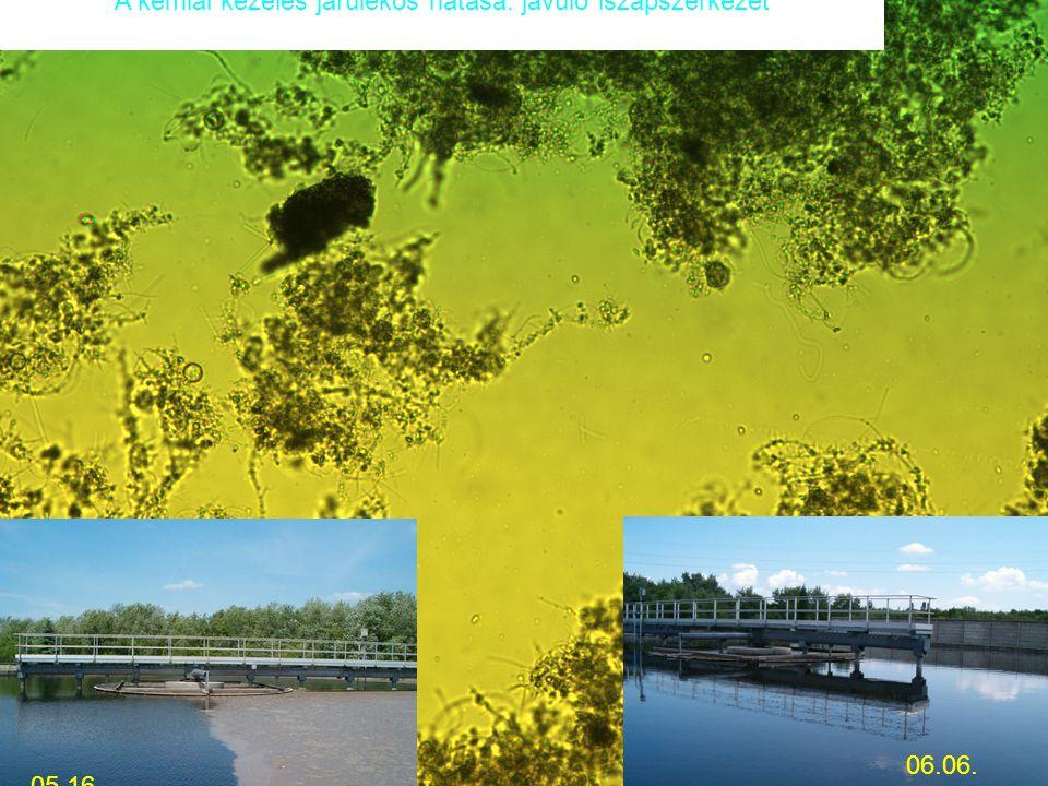 05.16. 06.06. A kémiai kezelés járulékos hatása: javuló iszapszerkezet