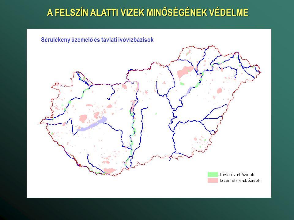 A FELSZÍN ALATTI VIZEK MINŐSÉGÉNEK VÉDELME Sérülékeny üzemelő és távlati ivóvízbázisok