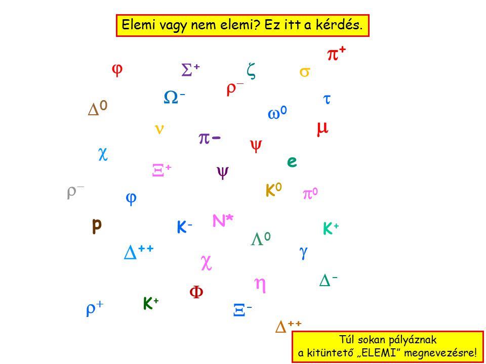   ++ --  00 00 00  ++    p e   K-K- -- 00  ++ K+K+ -- ++   ++ K+K+    K0K0  --  Elemi vagy nem elemi.