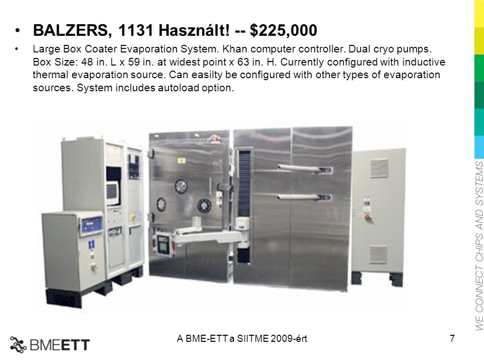 BALZERS, 1131 Használt! -- $225,000 Large Box Coater Evaporation System. Khan computer controller. Dual cryo pumps. Box Size: 48 in. L x 59 in. at wid