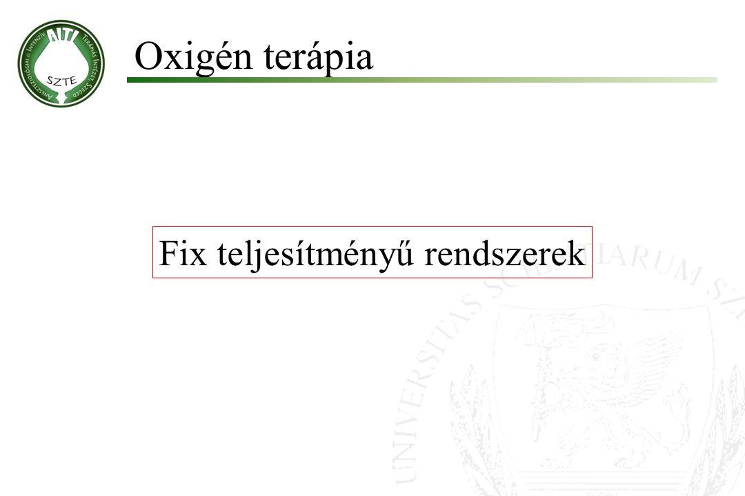 Fix teljesítményű rendszerek Oxigén terápia