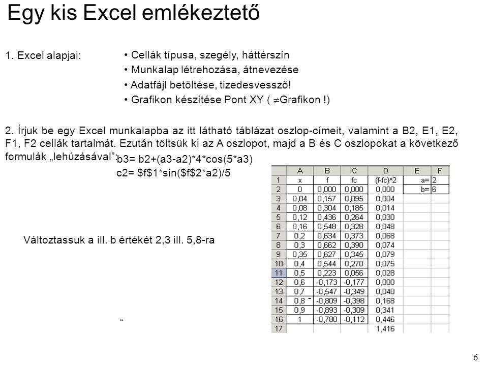 17 A korábbi Excel feladat VBA programmal 1.