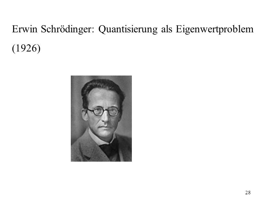 Erwin Schrödinger: Quantisierung als Eigenwertproblem (1926) 28