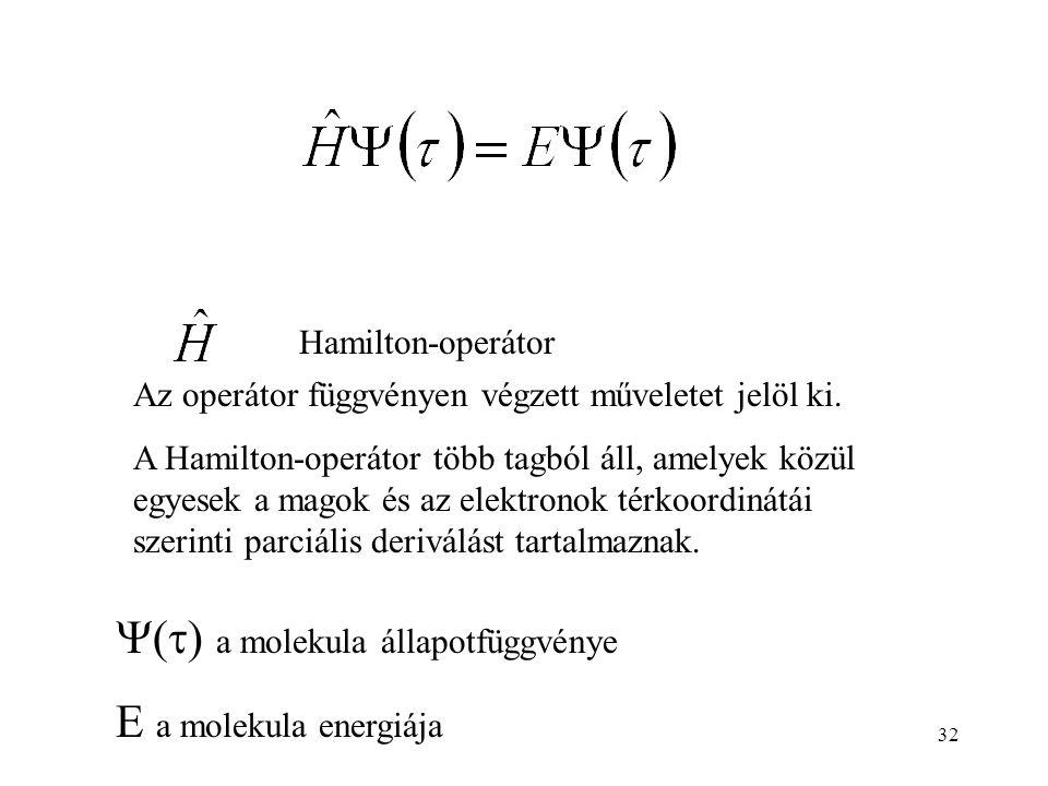Hamilton-operátor Az operátor függvényen végzett műveletet jelöl ki.