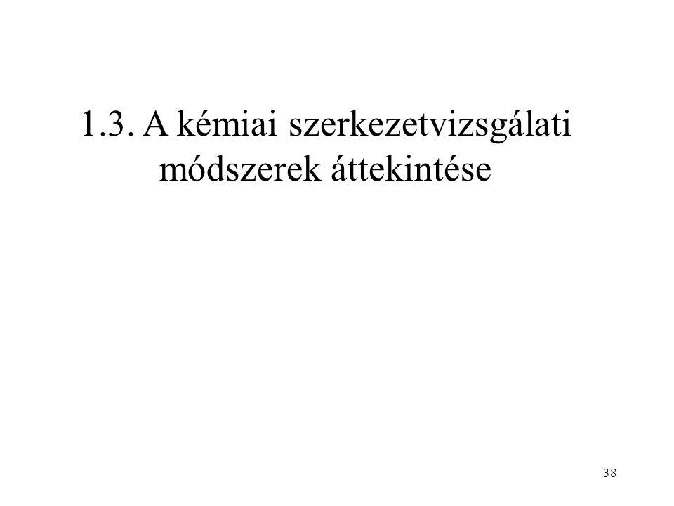 1.3. A kémiai szerkezetvizsgálati módszerek áttekintése 38