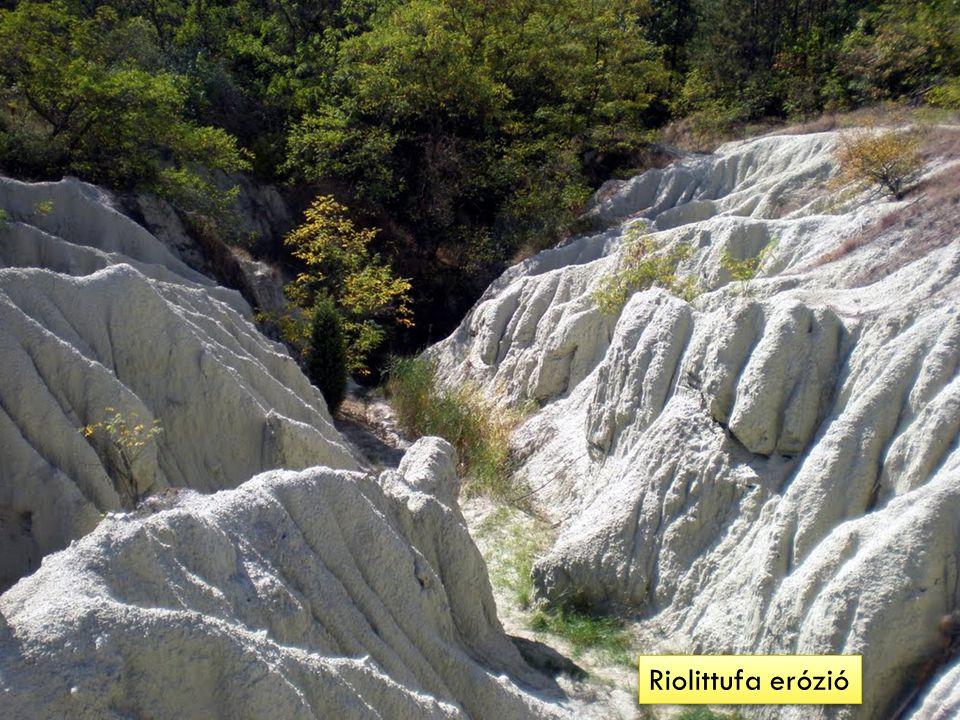 Riolittufa erózió