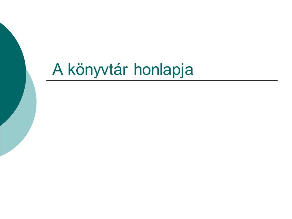 A könyvtár honlapja