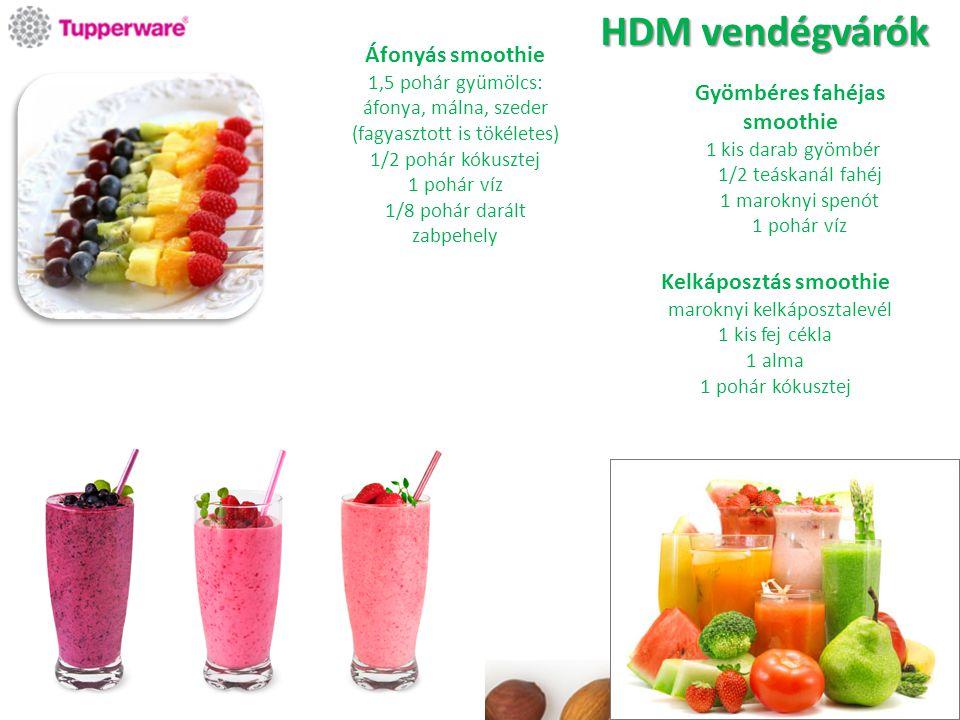Áfonyás smoothie 1,5 pohár gyümölcs: áfonya, málna, szeder (fagyasztott is tökéletes) 1/2 pohár kókusztej 1 pohár víz 1/8 pohár darált zabpehely Gyömb