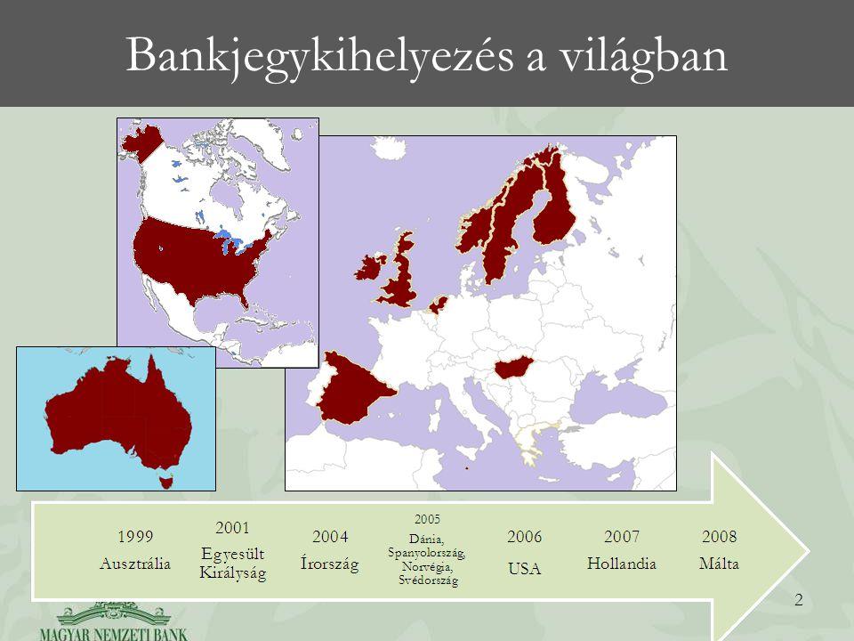 Bankjegykihelyezés a világban 2