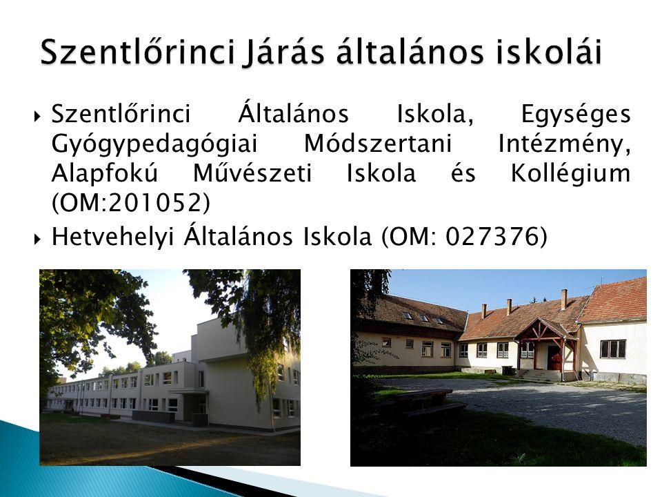 Szentlőrinci Általános Iskola, Egységes Gyógypedagógiai Módszertani Intézmény, Alapfokú Művészeti Iskola és Kollégium (OM:201052)  Hetvehelyi Által