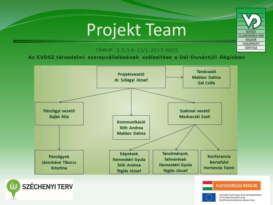 Projekt Team TÁMOP -2.5.3.A-13/1-2013-0025 Az EVDSZ társadalmi szerepvállalásának szélesítése a Dél-Dunántúli Régióban 3