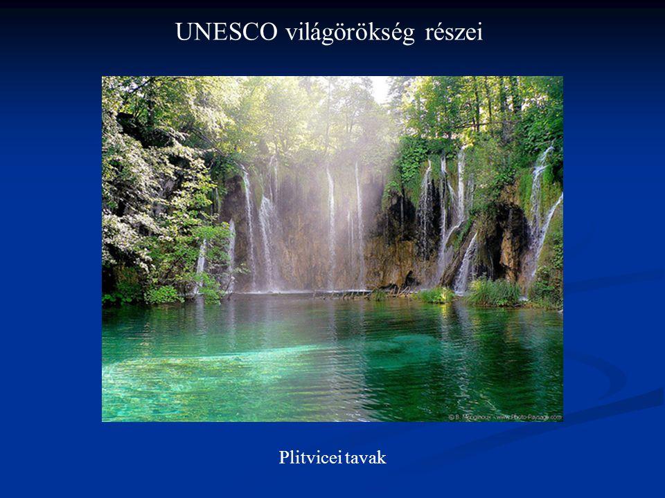UNESCO világörökség részei Plitvicei tavak