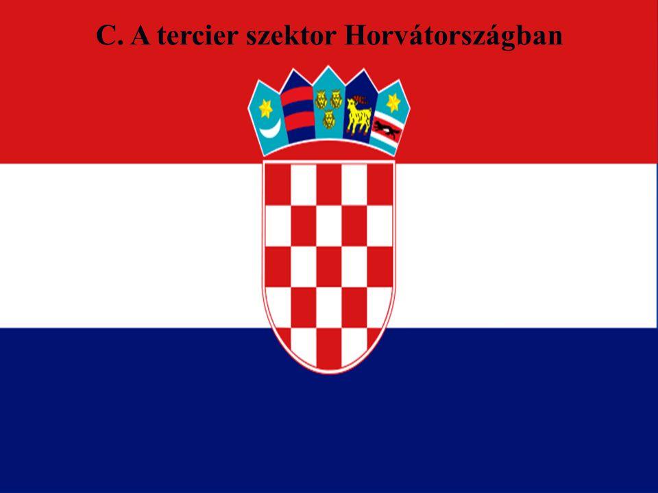 C. A tercier szektor Horvátországban