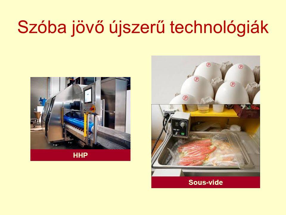 Szóba jövő újszerű technológiák HHP Sous-vide
