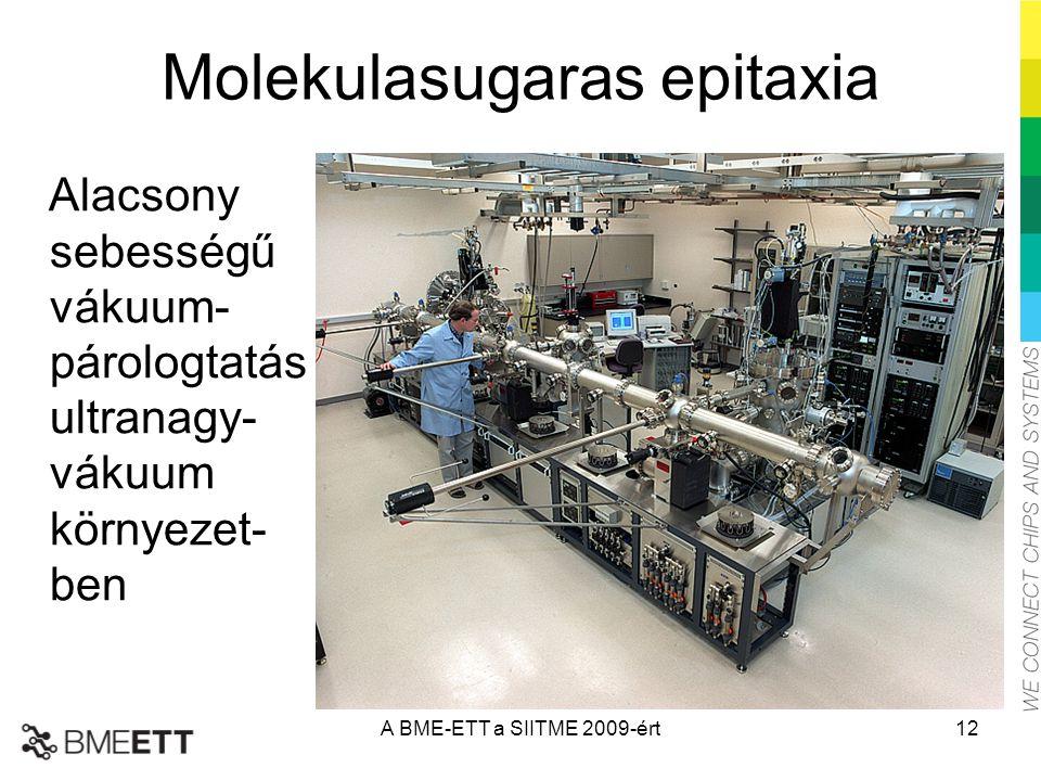 Molekulasugaras epitaxia Alacsony sebességű vákuum- párologtatás ultranagy- vákuum környezet- ben A BME-ETT a SIITME 2009-ért12