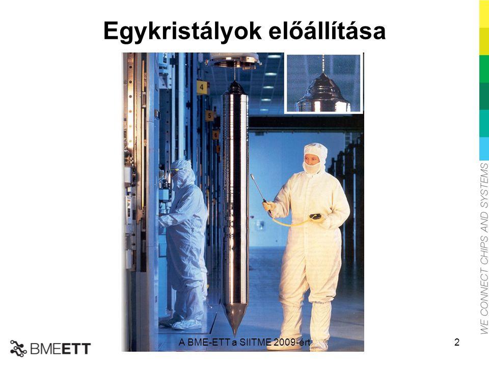 Egykristályok előállítása A BME-ETT a SIITME 2009-ért2