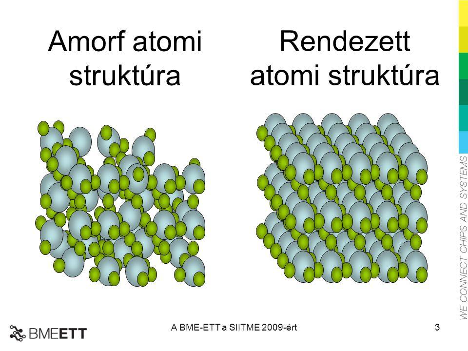 Amorf atomi struktúra Rendezett atomi struktúra A BME-ETT a SIITME 2009-ért3