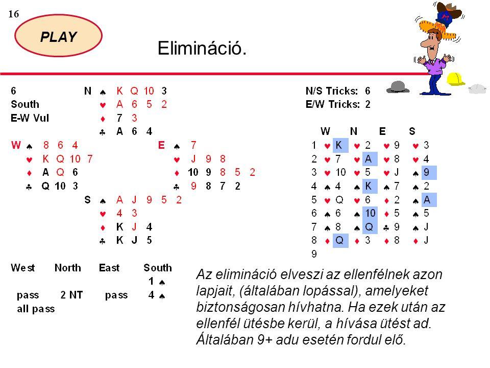 16 PLAY Elimináció.