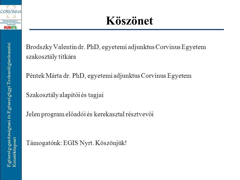 Köszönet Brodszky Valentin dr.