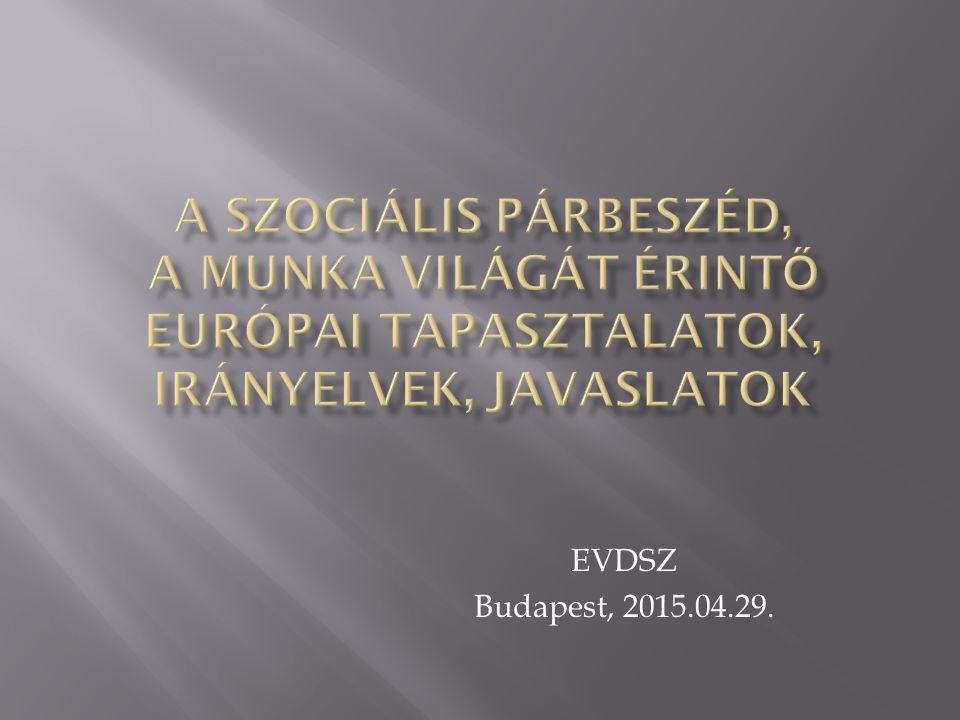 A vizsgálat célja annak feltérképezése, hogy a magyar gyakorlatban hogyan érkeznek el a hazai ágazati vállalati dolgozókhoz az európai szociális párbeszédben született javaslatok, irányelvek.