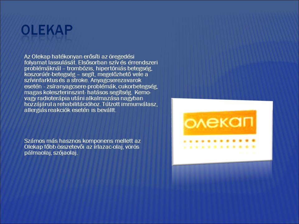 Az Olekap hatékonyan erősíti az öregedési folyamat lassulását.