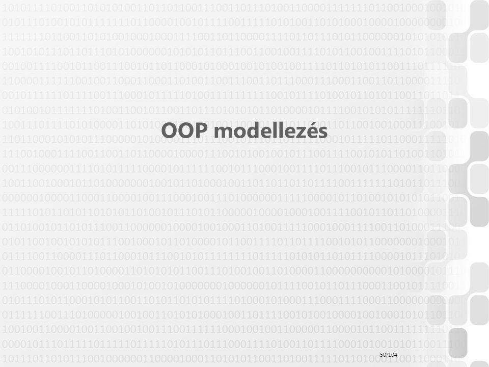OOP modellezés 50/104