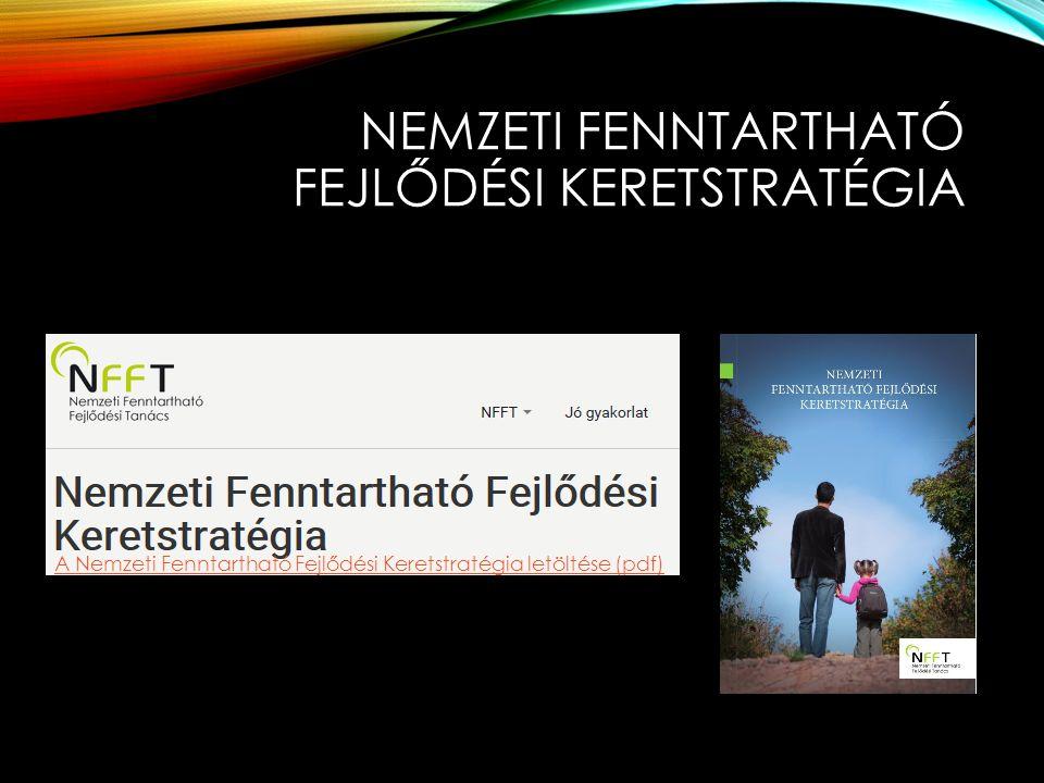 NEMZETI FENNTARTHATÓ FEJLŐDÉSI KERETSTRATÉGIA A Nemzeti Fenntartható Fejlődési Keretstratégia letöltése (pdf)