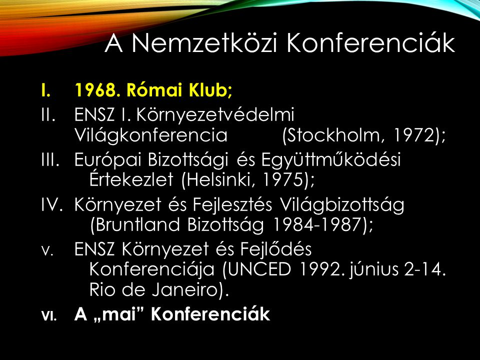 I.Római Klub: 1968.