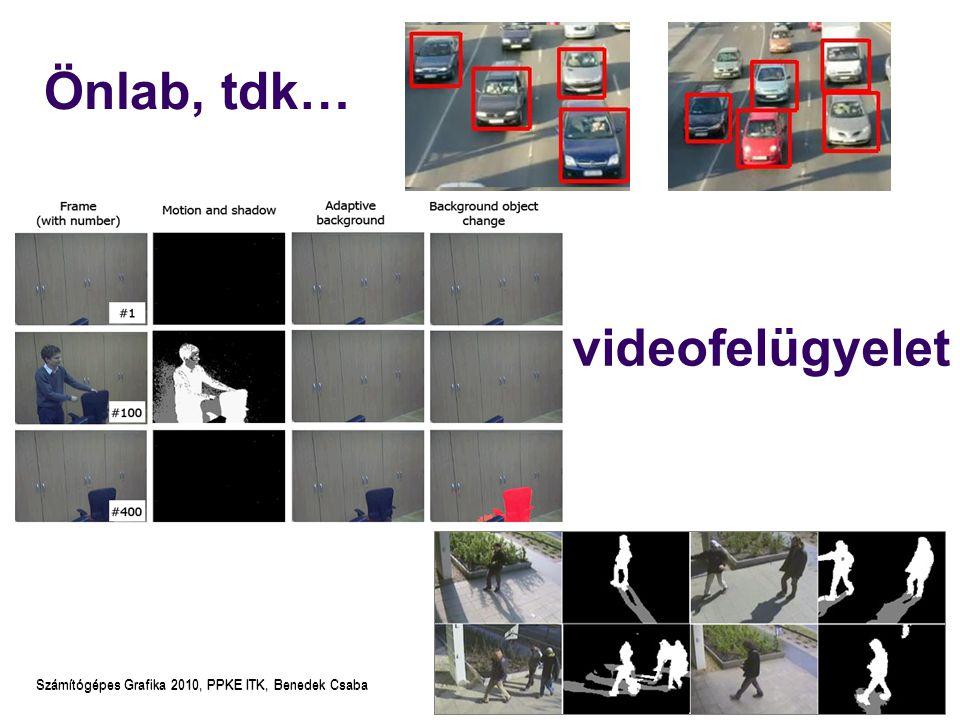 Számítógépes Grafika 2010, PPKE ITK, Benedek Csaba Normálvektor void glNormal3{bsidf}(TYPE nx, TYPE ny, TYPE nz); void glNormal3{bsidf}v(const TYPE *v); Adott (3D) pontban megjelenítendő felület normálvektora Árnyalási, megvilágítási feladatokhoz szükséges Felületek közelítése poligonokkal: csúcsponthoz a pontban találkozó lapok normálisának átlagát rendeljük – így az élek nem fognak látszani